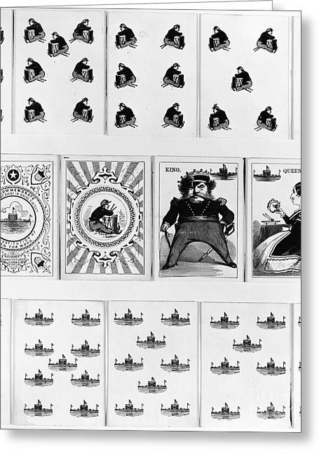 Playing Cards Greeting Cards - Civil War: Playing Cards Greeting Card by Granger