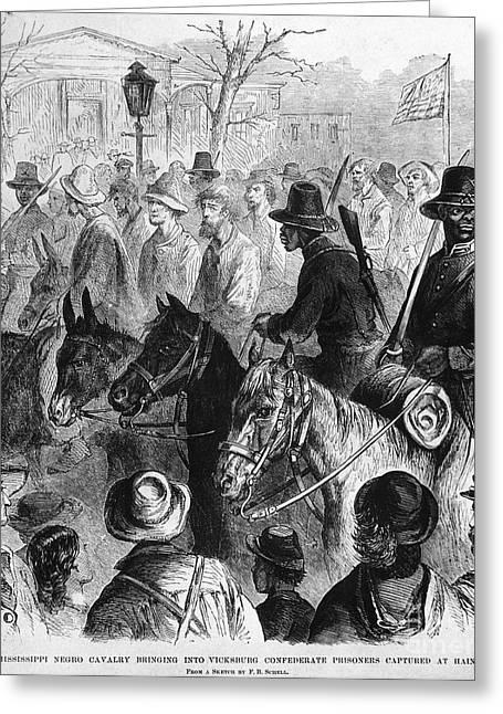 Vicksburg Greeting Cards - Civil War: Prisoner, 1864 Greeting Card by Granger