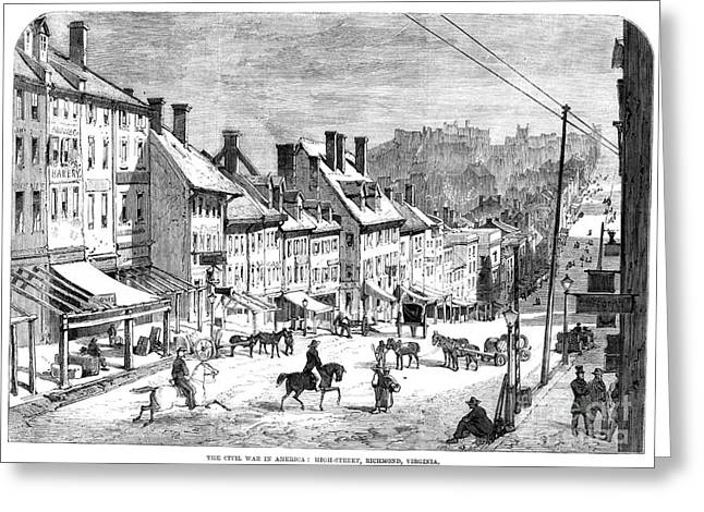 Streetlight Greeting Cards - Civil War: Richmond, 1862 Greeting Card by Granger