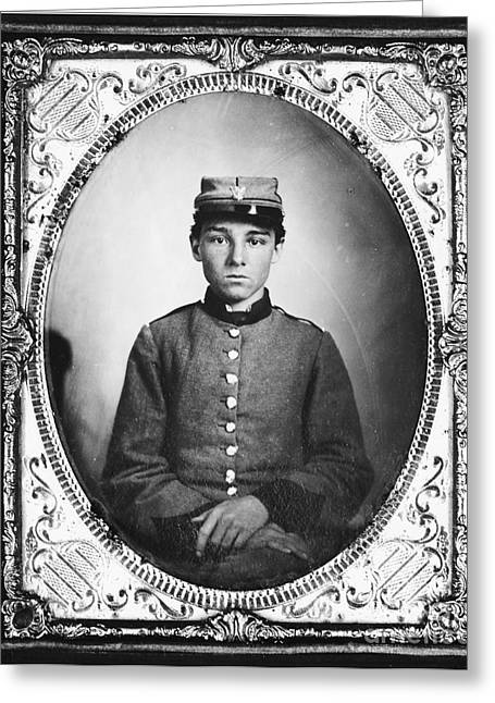 Seven Days Greeting Cards - Civil War Soldier Greeting Card by Photo Researchers