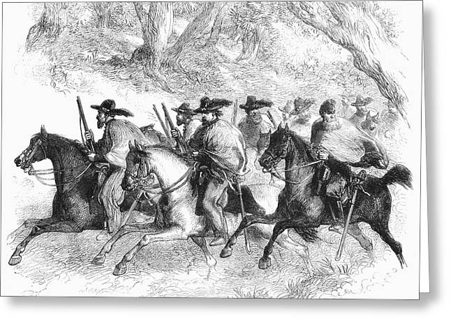 Recently Sold -  - Civil Greeting Cards - Civil War: Texas Rangers Greeting Card by Granger