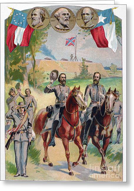 Confederate Flag Greeting Cards - Civil War: Uniforms Greeting Card by Granger