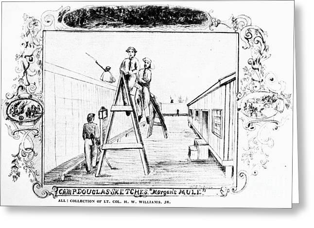 Civil War: Union Prison Greeting Card by Granger