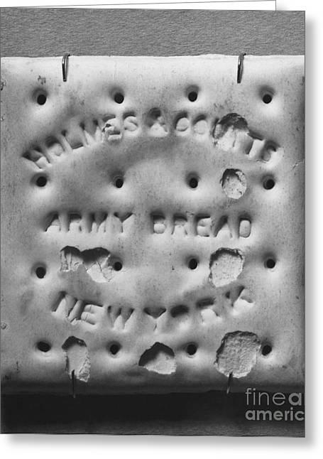 Civil War Time Greeting Cards - Civl War-era Hardtack Greeting Card by Photo Researchers