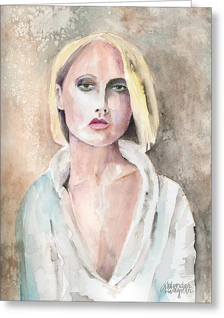 Protrait Greeting Cards - Claire - The Engaging Spirit Greeting Card by Arline Wagner