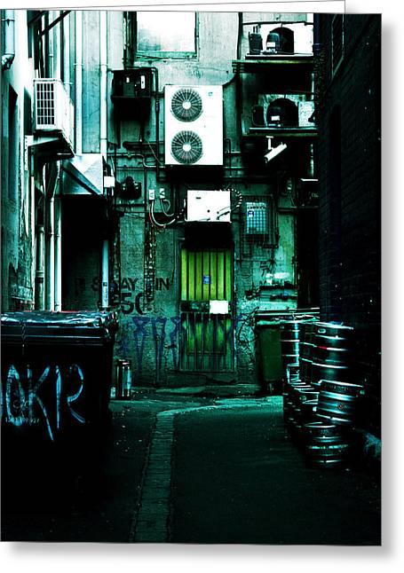 Air Conditioner Greeting Cards - Clandestine Greeting Card by Andrew Paranavitana