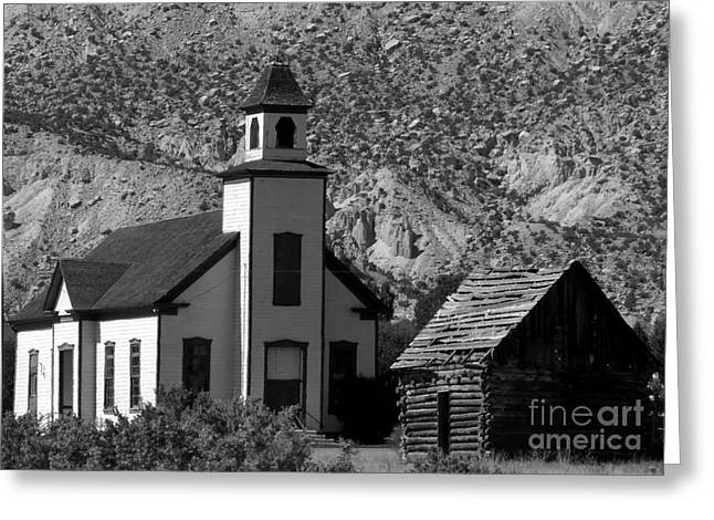 Old Cabins Greeting Cards - Clapboard Church 1898 Greeting Card by David Lee Thompson