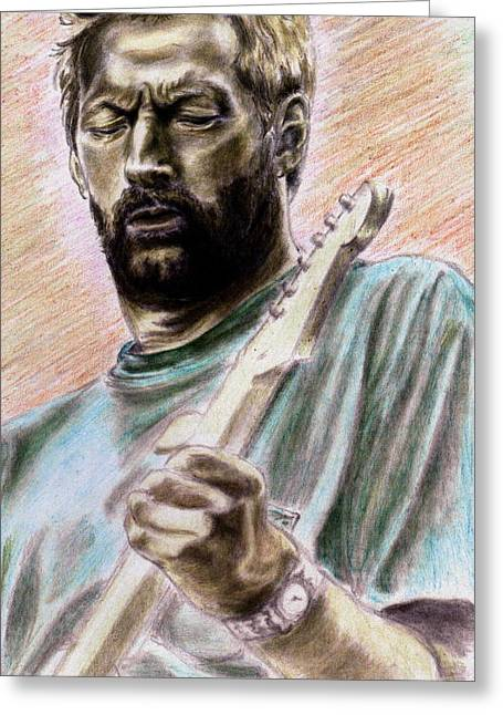 Slowhand Greeting Cards - Clapton Greeting Card by Kathleen Kelly Thompson