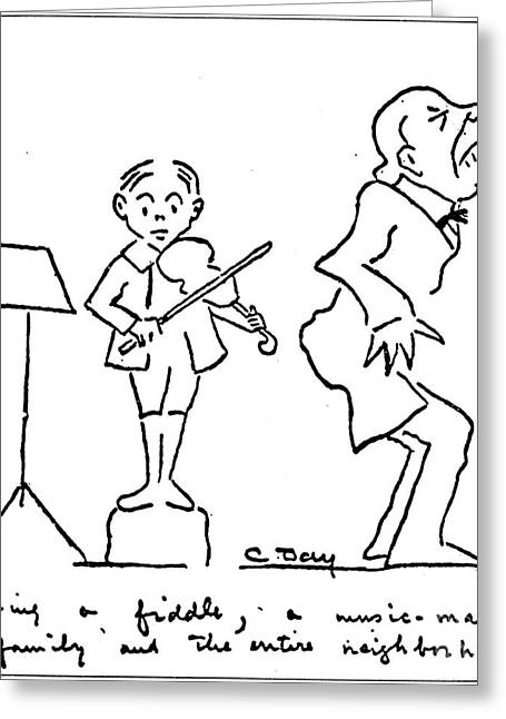 Music Stand Greeting Cards - Clarence Day (1874-1935) Greeting Card by Granger