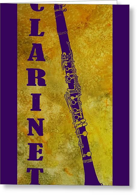 Clarinet Greeting Card by Jenny Armitage