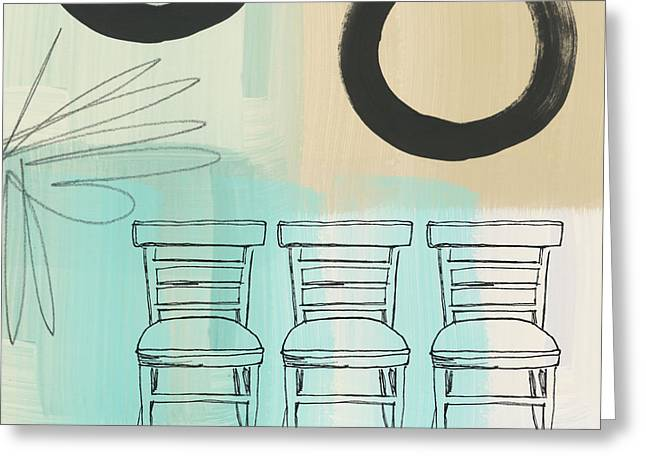 Chairs Greeting Cards - Clarity Greeting Card by Linda Woods