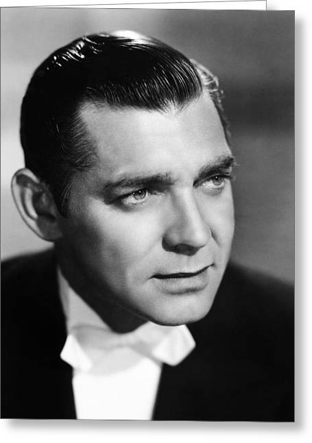 Bowtie Greeting Cards - Clark Gable (1901-1960) Greeting Card by Granger