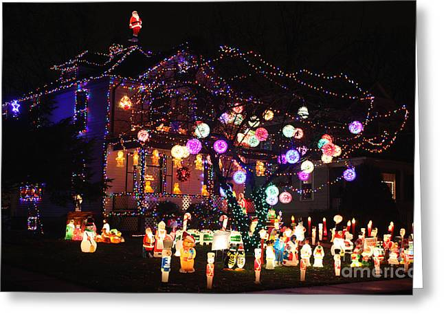 Griswold Greeting Cards - Clark Griswolds Home Greeting Card by David Bearden