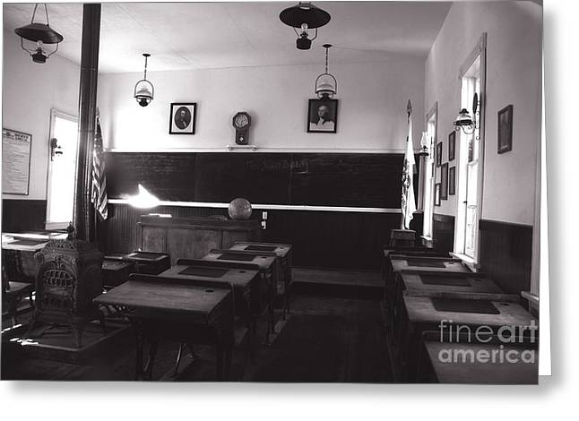 Timely Greeting Cards - Class Room Inside View Calico California Greeting Card by Susanne Van Hulst