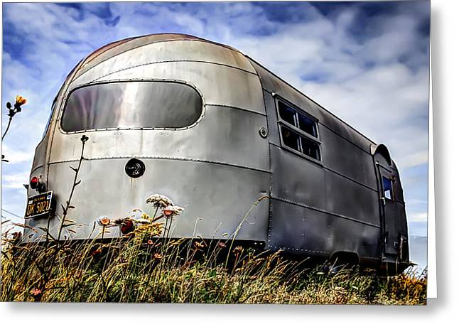 Classic Airstream Caravan Greeting Card by Ian Hufton