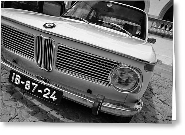 Bmw 2002 Greeting Cards - Classic BMW 2002 Greeting Card by Photo Proyectolabs