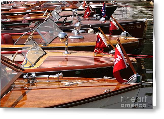 Vintage Boat Greeting Cards - Classic Boats Greeting Card by Neil Zimmerman
