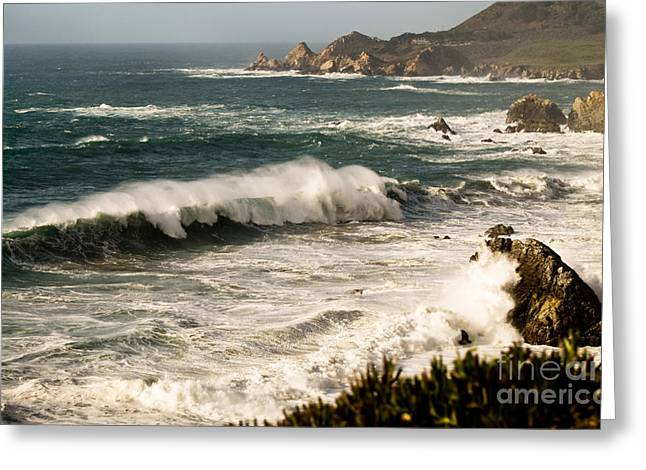 Senic View Greeting Cards - Classic California Surf Greeting Card by Norman  Andrus