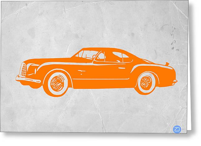 Dwell Digital Art Greeting Cards - Classic Car 2 Greeting Card by Naxart Studio