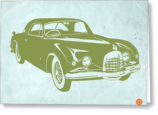 Classic Car Greeting Card by Naxart Studio