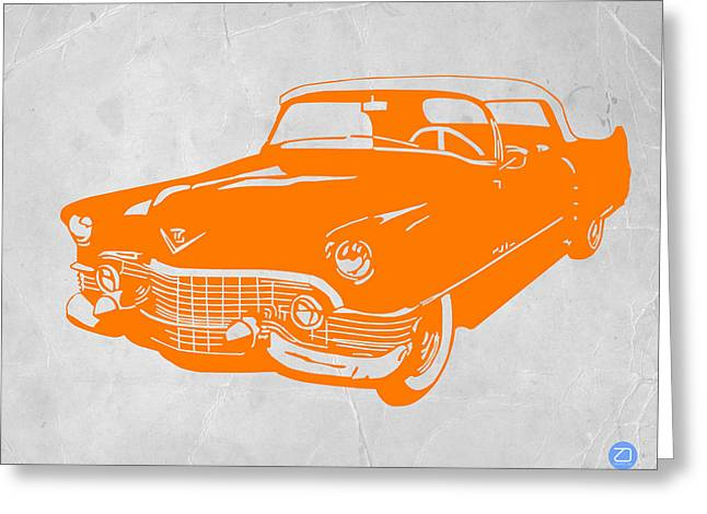 Dwell Digital Art Greeting Cards - Classic Chevy Greeting Card by Naxart Studio