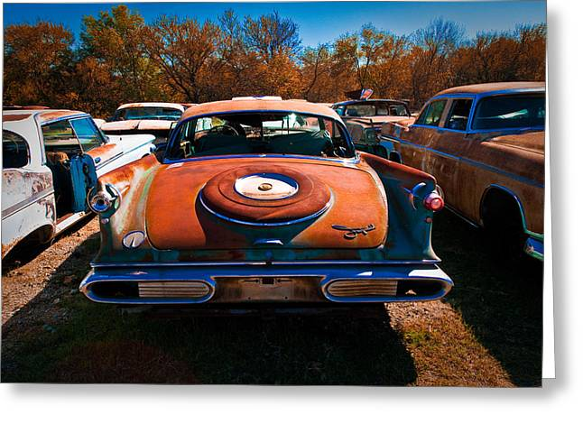 Nikon D80 Greeting Cards - Classic Chrysler Greeting Card by Sonja Quintero