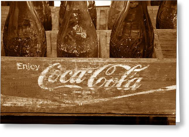Fine Bottle Greeting Cards - Classic Coke work B Greeting Card by David Lee Thompson