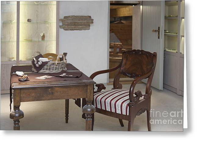 Classic Desk and Display Cases Greeting Card by Jaak Nilson
