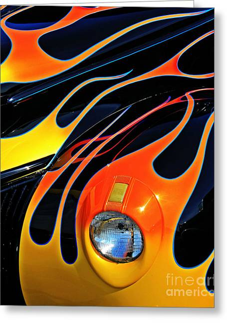 Paint Photograph Greeting Cards - Classic Flames Greeting Card by Perry Webster