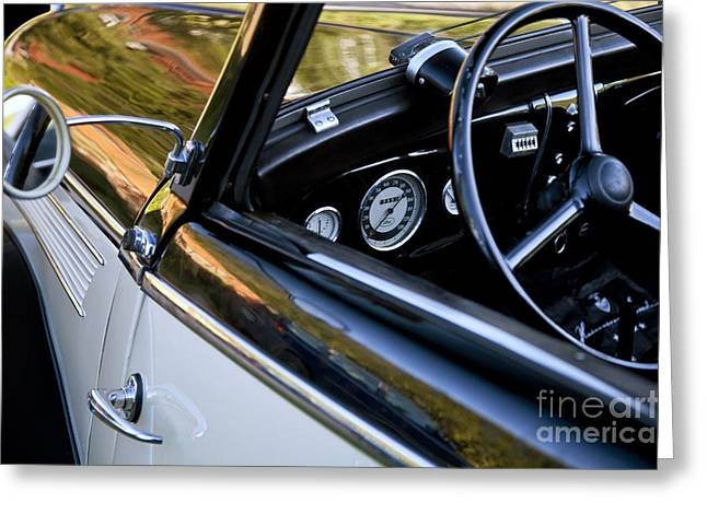 Eifel Greeting Cards - Classic Ford Interior Greeting Card by Heiko Koehrer-Wagner