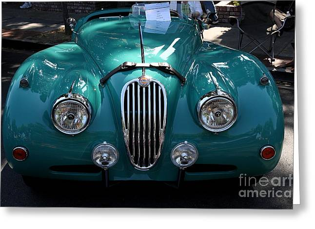 Classic Green Jaguar . 40D9411 Greeting Card by Wingsdomain Art and Photography