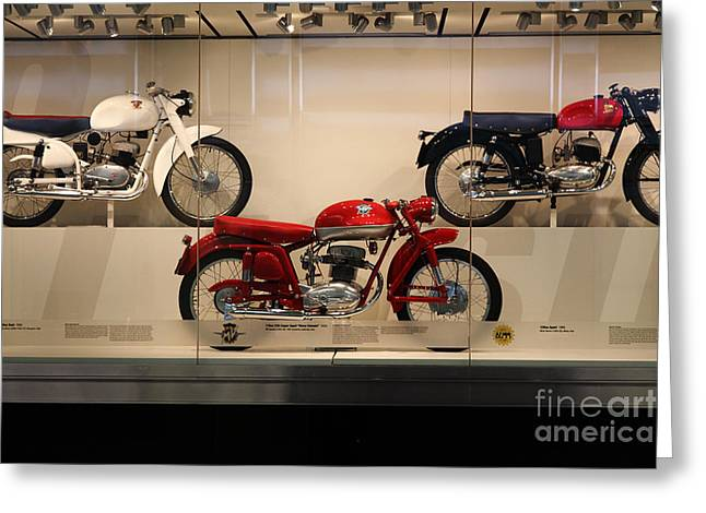 Mv Greeting Cards - Classic Italian Motorcycles . 1955 Agusta MV 175cc CSS Super Sport - Disco Volante . 5D16975 Greeting Card by Wingsdomain Art and Photography