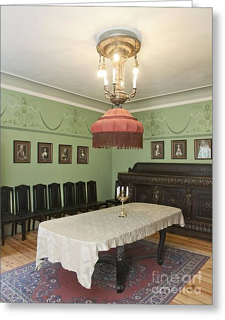 Table Cloth Greeting Cards - Classic Luxury Dining Room Greeting Card by Jaak Nilson