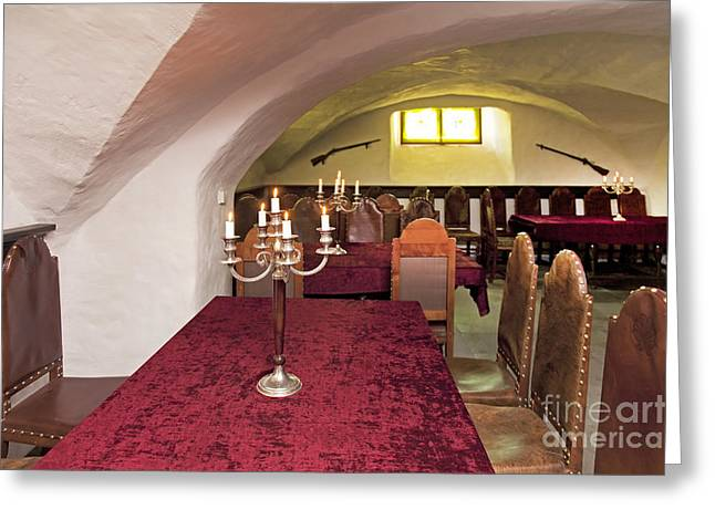 Basement Greeting Cards - Classic Manor Dining Room Interior Greeting Card by Jaak Nilson