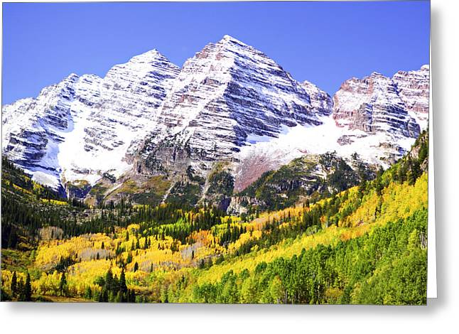 Marilyn Hunt Greeting Cards - Classic Maroon Bells Greeting Card by Marilyn Hunt