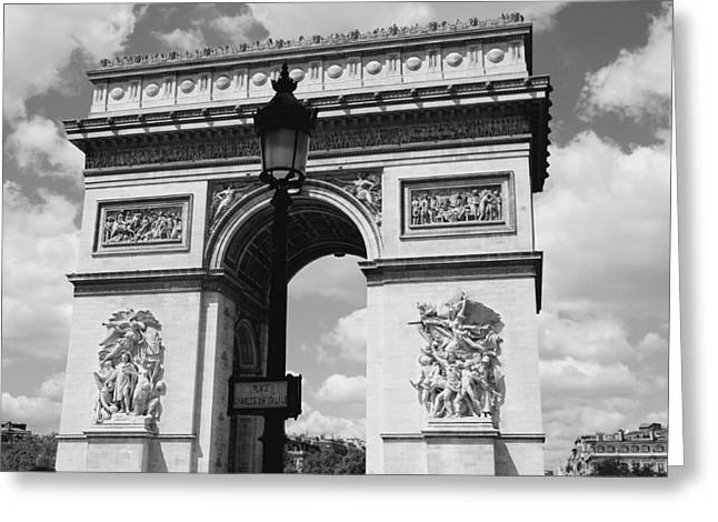 Black And White Paris Greeting Cards - Classic Paris 6 Greeting Card by Andrew Fare