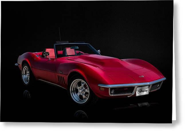 Red Greeting Cards - Classic Red Corvette Greeting Card by Douglas Pittman
