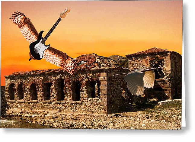 Acroplolis Greeting Cards - Classic Rock Greeting Card by Eric Kempson