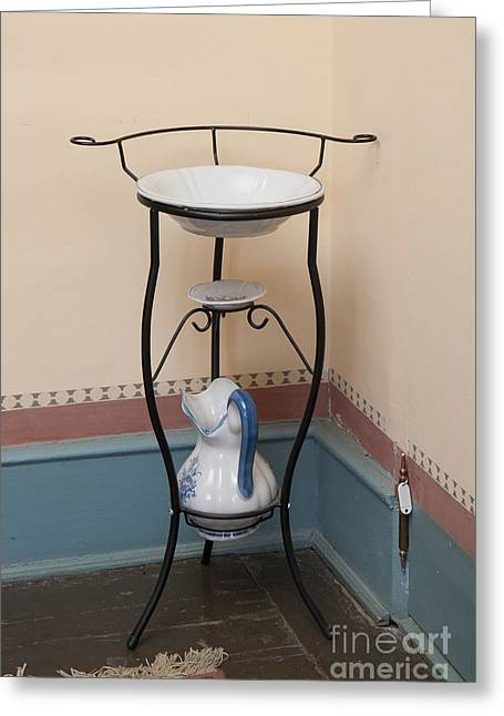 Old Pitcher Greeting Cards - Classic Wash Basin Greeting Card by Jaak Nilson