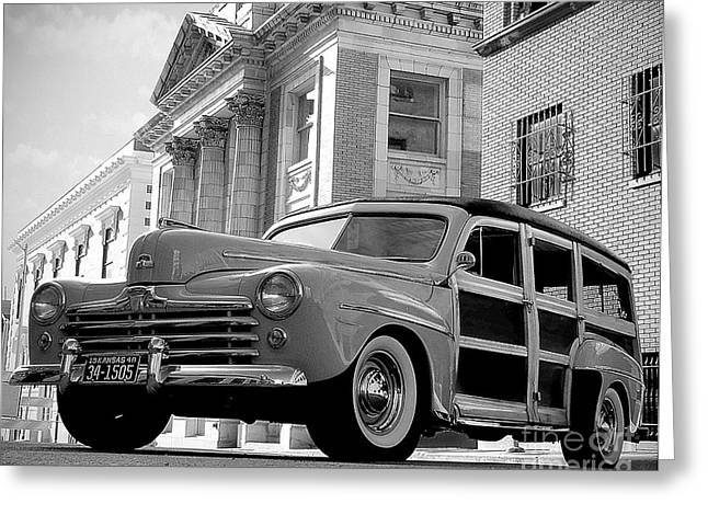 Subcompact Greeting Cards - Classic Wood Greeting Card by Joe Russell