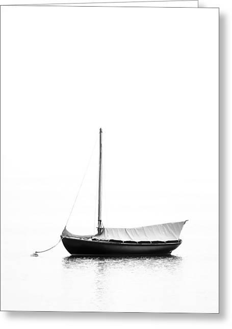 Classic Yacht Sails Down Greeting Card by Dapixara Art