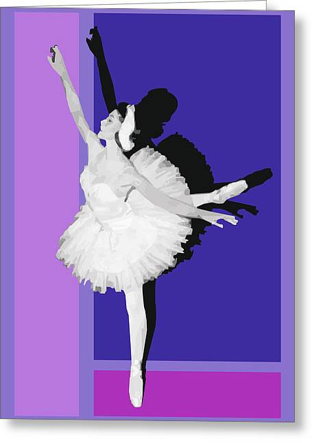 White Ballerina Greeting Cards - Classical ballet Greeting Card by Joaquin Abella