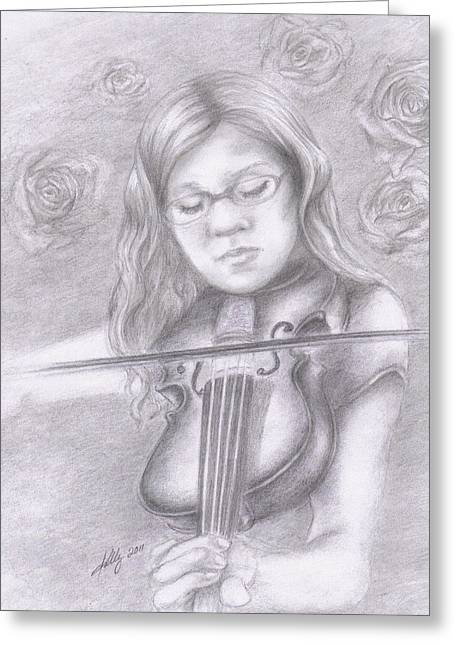 Grayscale Drawings Greeting Cards - Classical Beauty Greeting Card by Kathleen Kelly Thompson