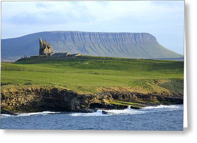 Sligo Greeting Cards - Classiebawn Castle, Mullaghmore, Co Greeting Card by Gareth McCormack