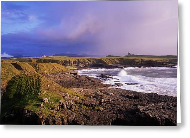 Lord Of The Destination Greeting Cards - Classiebawn Castle, Mullaghmore, Co Greeting Card by The Irish Image Collection