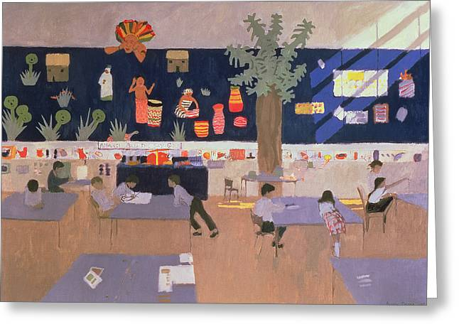 Education Paintings Greeting Cards - Classroom Greeting Card by Andrew Macara