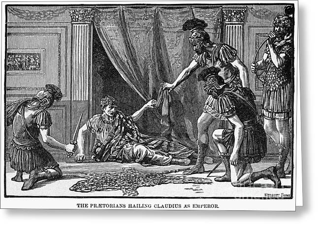 Proclamation Photographs Greeting Cards - Claudius And Guards Greeting Card by Granger
