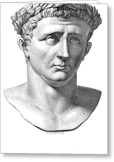 Statue Portrait Greeting Cards - Claudius I (10 B.c.-54 A.d.) Greeting Card by Granger