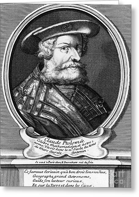 Claudius Greeting Cards - Claudius Ptolemy, Greek-roman Polymath Greeting Card by Photo Researchers, Inc.