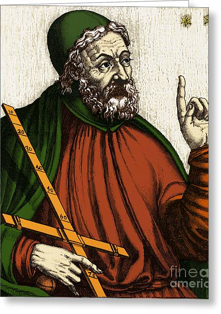 Citizens Greeting Cards - Claudius Ptolemy, Greek-roman Polymath Greeting Card by Photo Researchers